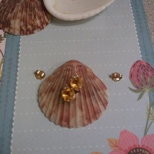 57 off Jared Jewelry JARED 14K Yellow Gold Citrine and Diamond